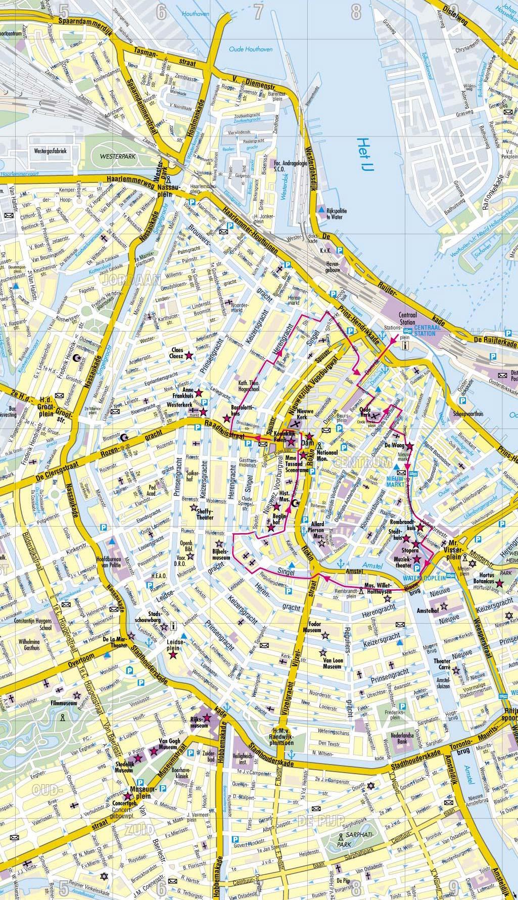 Cartina Amsterdam.Mappa Amsterdam Utilizza La Mappa Amsterdam Per I Tuoi Spostamenti